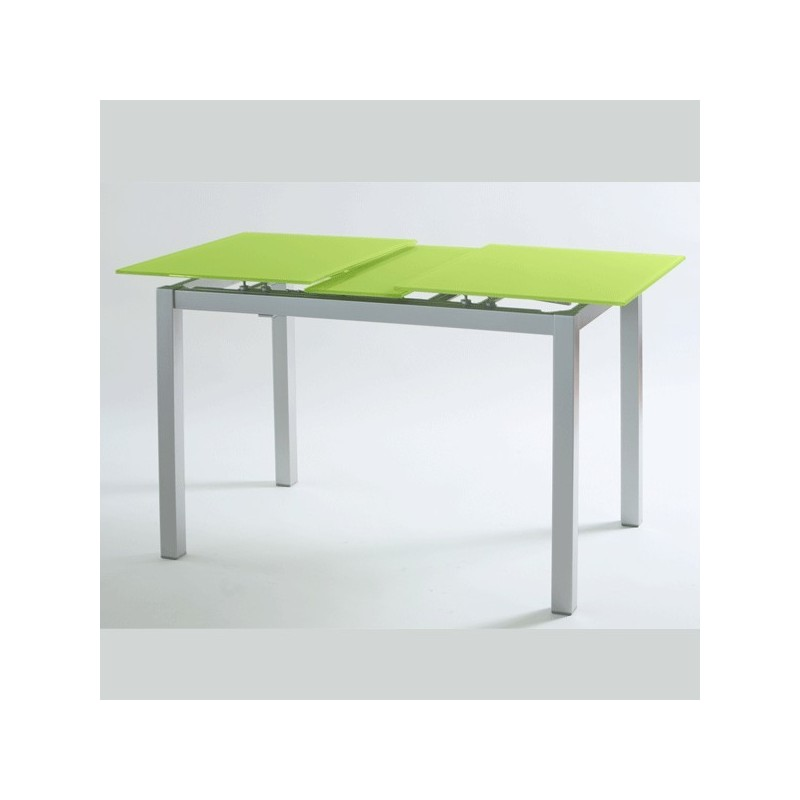 Mesa de cocina modelo carla extensible y con tapa de vidrio for Mesa de vidrio extensible