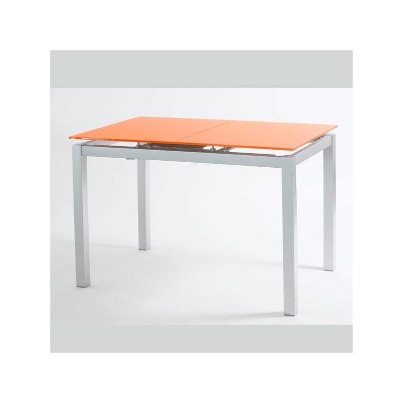 Mesa de cocina modelo carla extensible y con tapa de vidrio - Mesa extensible cocina ...
