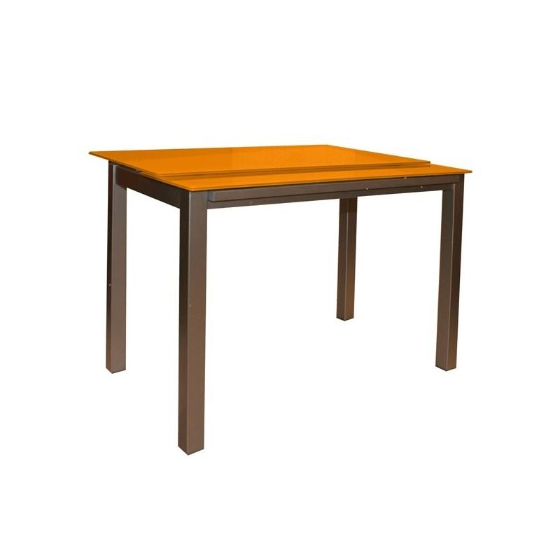 Mesa de cocina nere extensible a lo ancho for Mesas para cocina extensibles