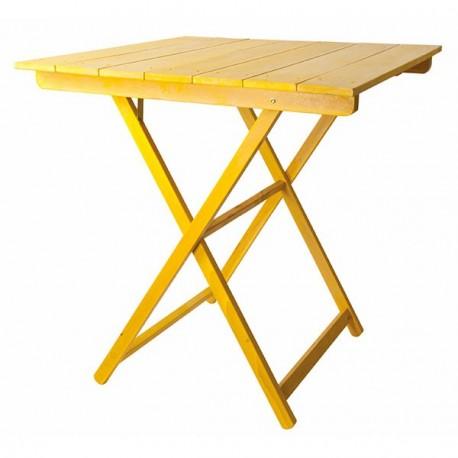 Mesa plegable Velador con tablillas de colores