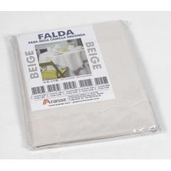 Falda mesa camilla rectangular beige