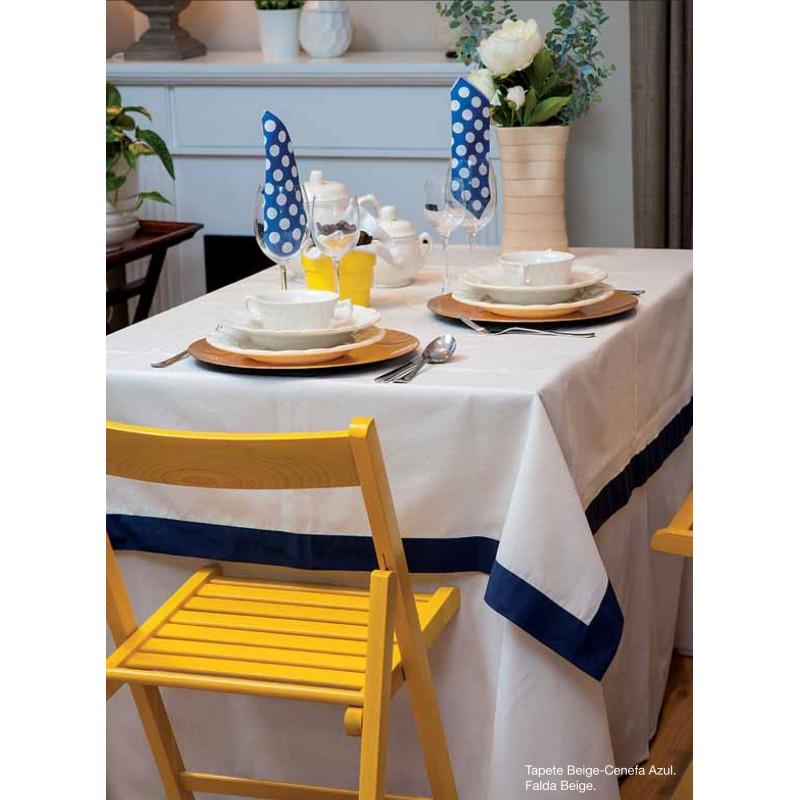 Falda para mesa camilla redonda de color beige - Mesa camilla redonda ...