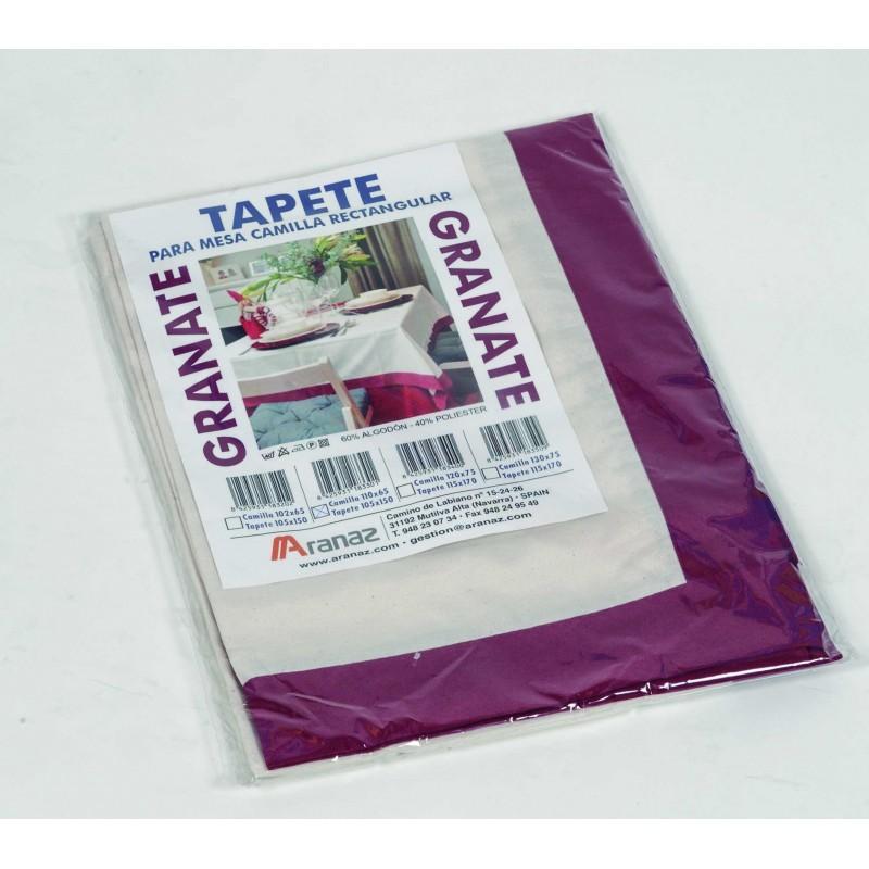 tapete para mesa camilla rectangular de diferentes colores