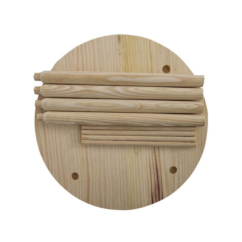 Mesa y taburetes de madera conjunto infantil - Mesa madera infantil ...