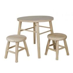 Conjunto infantil mesa y taburetes