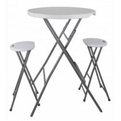 Conjunto mesa y taburetes plegables