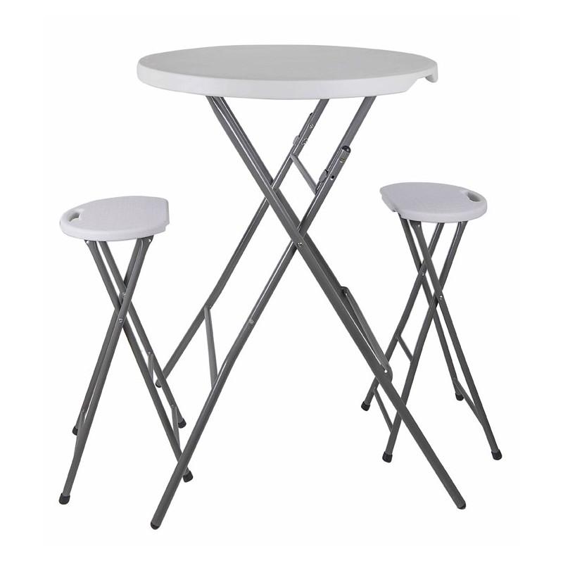 Conjunto de mesa y taburetes plegables de pl stico - Taburetes plegables cocina ...