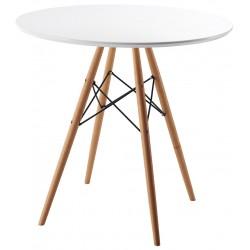 Mesa blanca estilo nórdico