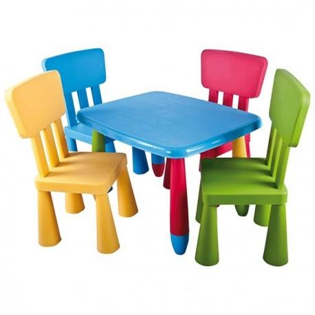 Mesa infantil rectangular de colores a por mesas for Mesa infantil