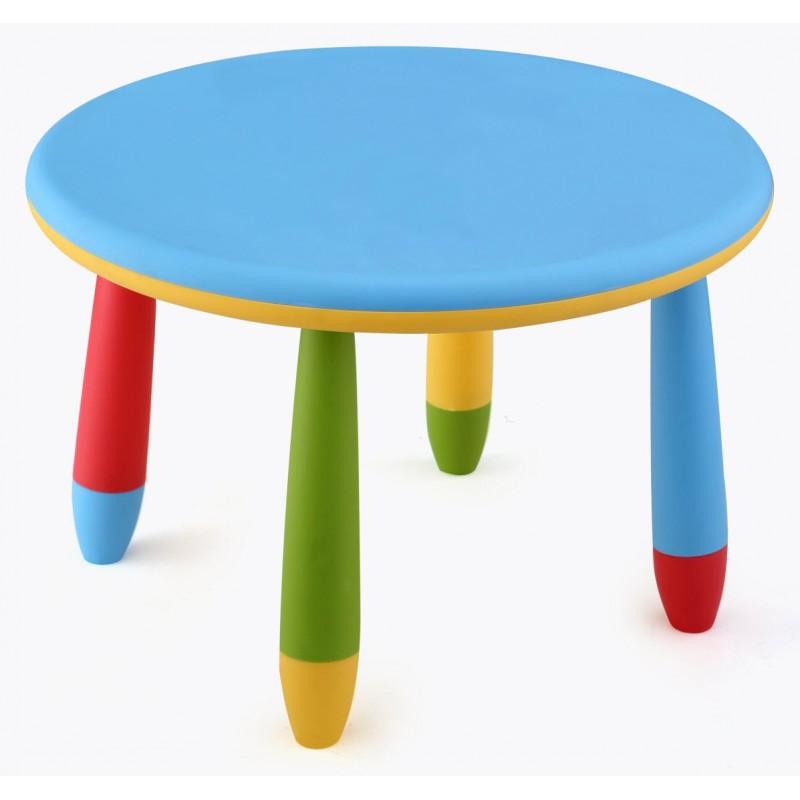 Mesa infantil de colores redonda fabricada en pl stico - Mesas para ninos de plastico ...