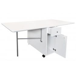 Mesa de cocina plegable Nari Cajones