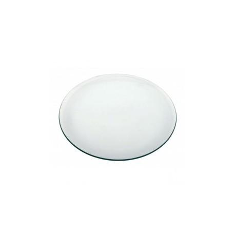 Cristal redondo mesa camilla