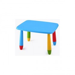 Mesa infantil rectangular de colores