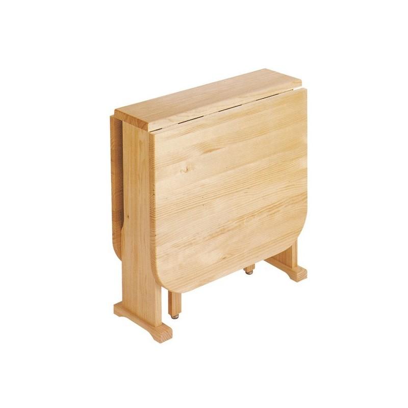 Mesa plegable de madera pino macizo a por mesas for Mesa plegable de madera
