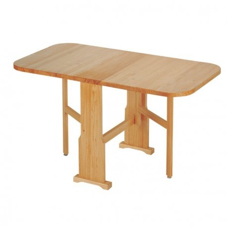 Mesa plegable de madera de pino macizo for Mesa plegable para sofa