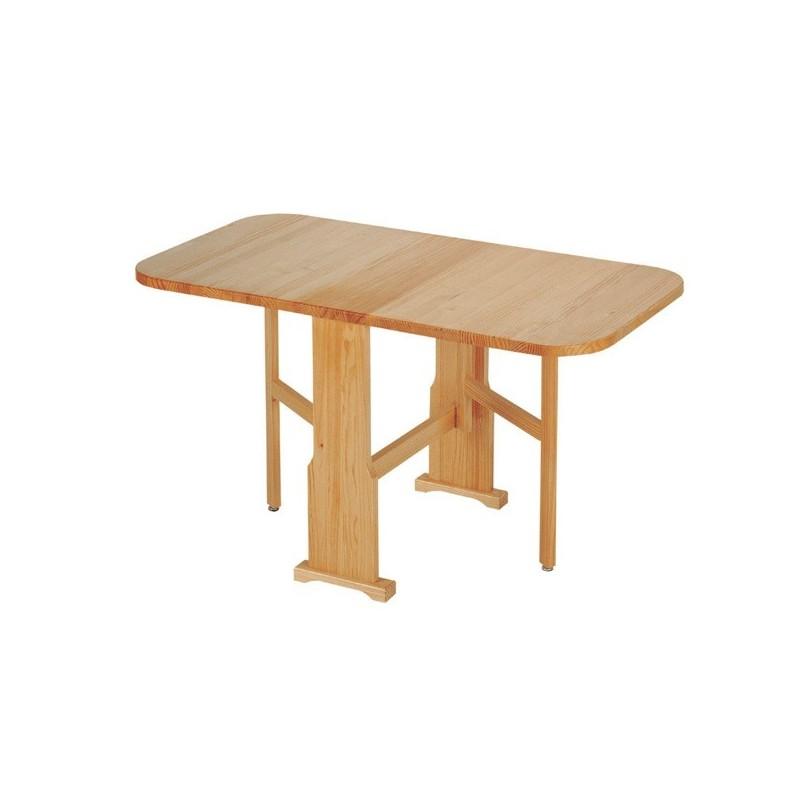 Mesa plegable de madera pino macizo a por mesas - Mesa de centro plegable ...