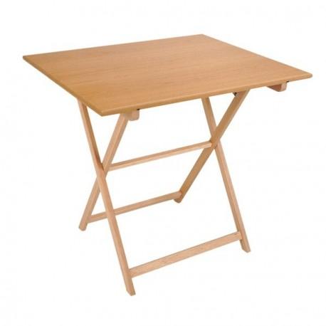 Mesa plegable velador fabricada en madera de haya - Hacer mesa abatible ...