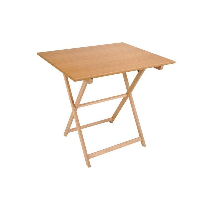 Mesa plegable velador fabricada en madera de haya - Como hacer una mesa abatible ...